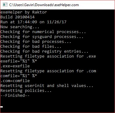 The Complete Malware Removal Guide malware removal exehelper restore file association