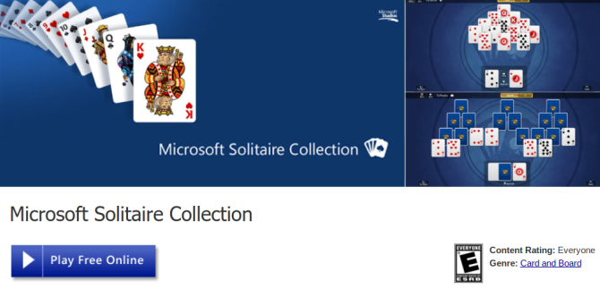 20 Fun Things to Do Online When You're Bored at Work microsoft solitaire screenshot