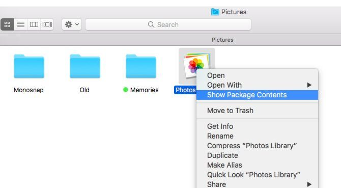 how to put imported photos into a folder