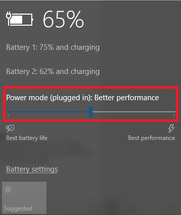 The Complete Windows 10 Fall Creators Update Troubleshooting Guide power mode slider windows