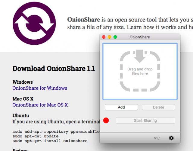 privacy apps keep data safe secure onionshare