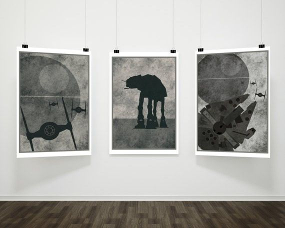 10 Gifts for the Science Fiction Fan in Your Life star wars art prints bw