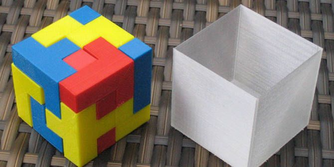 3D printed cube puzzle