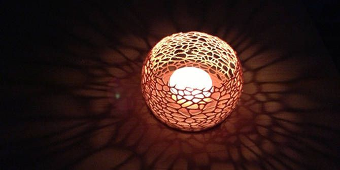 3D printed coral candle shade