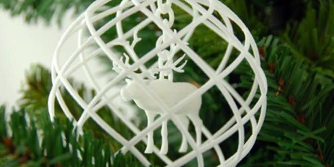 3D printed Rudolph ornament