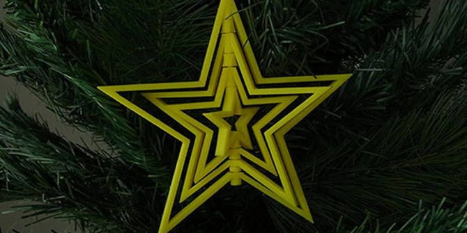3D printed spinning Christmas star