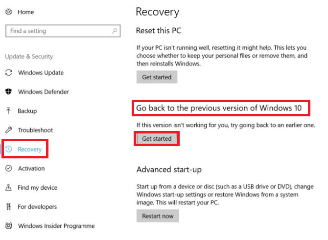 How to Rollback and Uninstall the Windows 10 Fall Creators Update windows 10 rollback 670x491