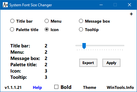 Windows 10 System Font Size Changer