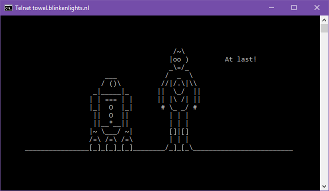 Watching Command Prompt Star Wars