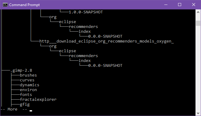 Viewing folder structure in Command Prompt