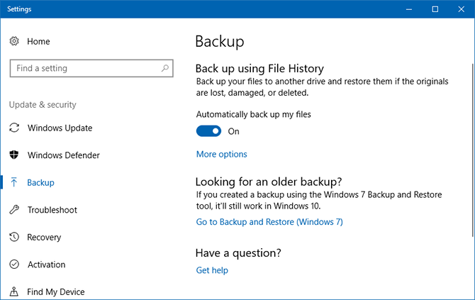The Windows Backup and Restore Guide windows file history 3