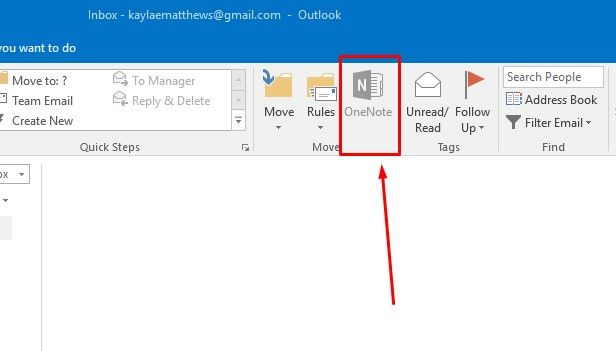 OneNote in Outlook