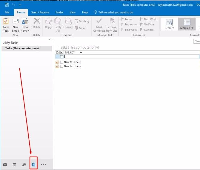 Outlook My Tasks OneNote Integration