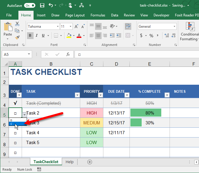 types of excel lists to ease data entry