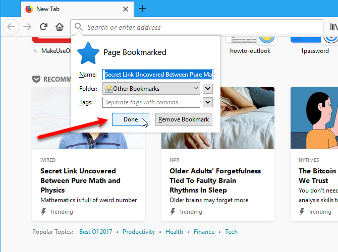 Customize Firefox Pocket recommendations