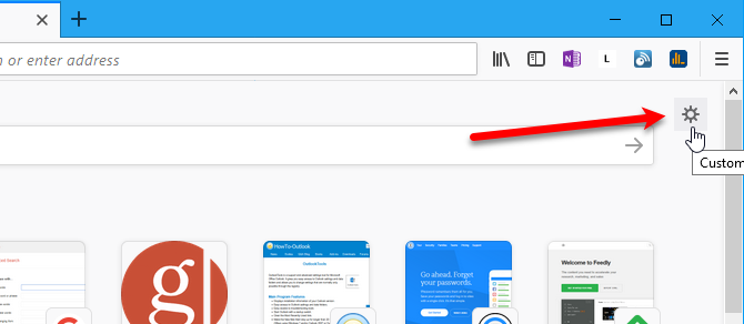 Hide Firefox new tab sections