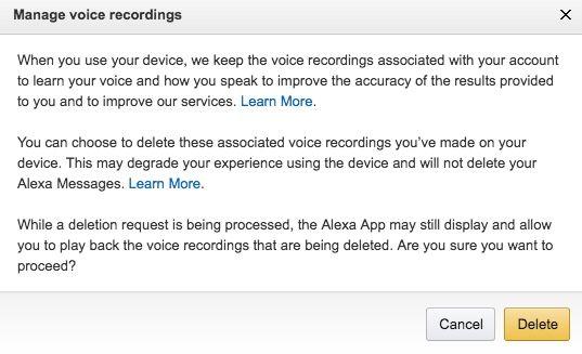 How to Delete Your Amazon Echo Voice Data