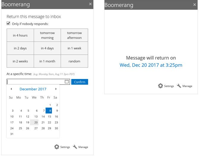 Boomerang Outlook Add-In for Reminders