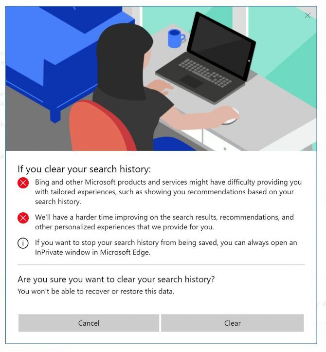 How to View and Delete All Your Windows 10 Activity History Clear Search History e1513191911486