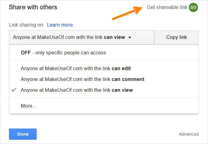 Google Docs for business document sharing