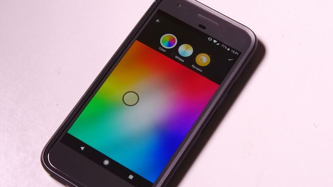 Philips Hue color picker on cell phone