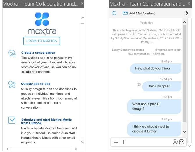 Moxtra Outlook Add-In