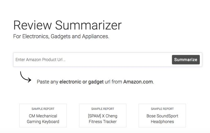 Paste any electronic or gadget url from Amazon.com