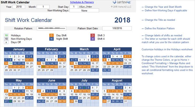 microsoft office 2018 calendars