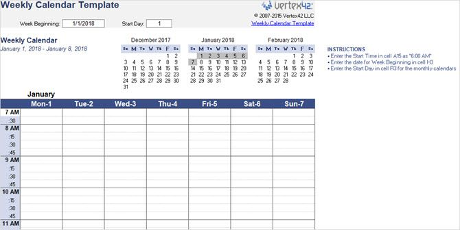 best microsoft office calendar templates