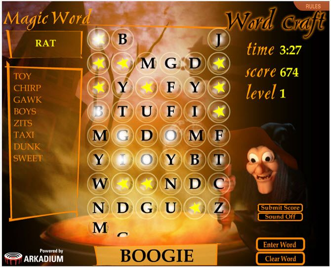 Free Online Word Games - Word Craft