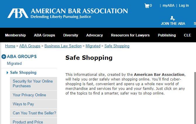 The MakeUseOf Online Shopping Guide american bar association safe shopping 670x425