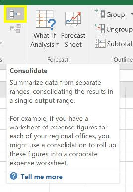 consolidate excel data
