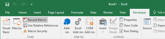 how to make a macro button in excel 2016