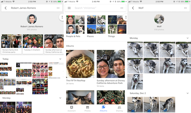 how to quickly find photos in google photos