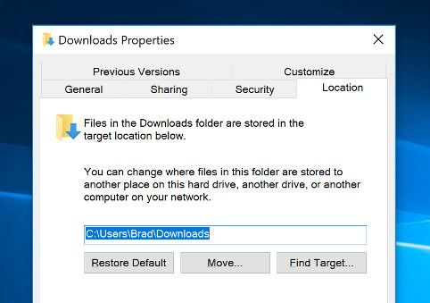 how to move your user folder in windows 10