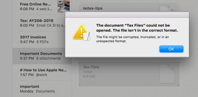 Folder-opening error in Notes