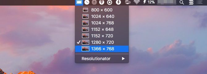 resolutionator-Mac Menu Bar Apps