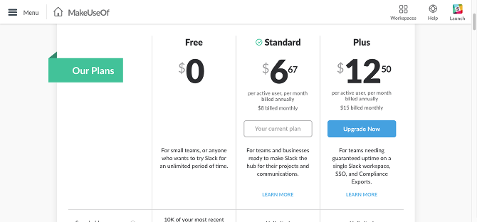 Slack Which Team Communication Tool Is Best For You Pricing