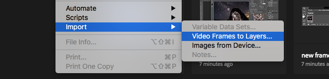 make gif in photoshop from video