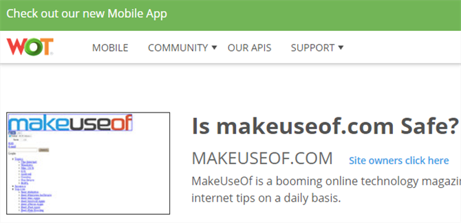 The MakeUseOf Online Shopping Guide web of trust check site reliability safety 670x325