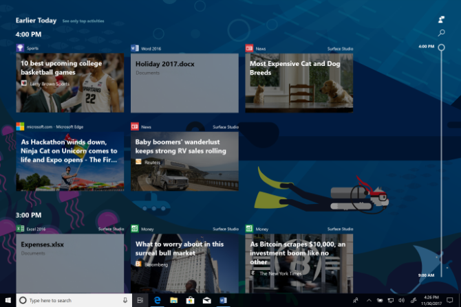 You Can Now Test Windows 10's Timeline Feature windows 10 timeline feature preview