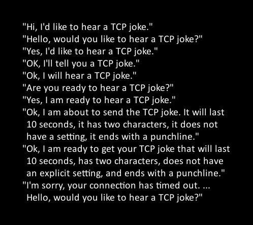xmas lights interfere tcp joke