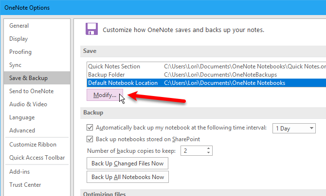 how to save onenote notebooks