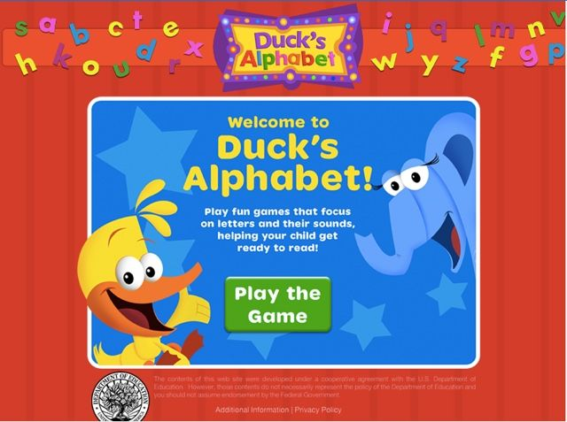 Educational Game for Kids -- Duck's Alphabet