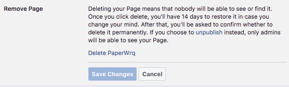 How to Delete a Facebook Business Page Facebook Delete Page 1