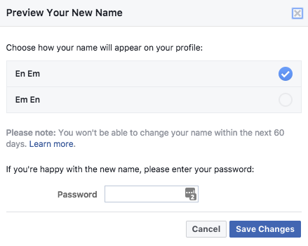 How to Change Your Facebook Name Facebook Name Change 2