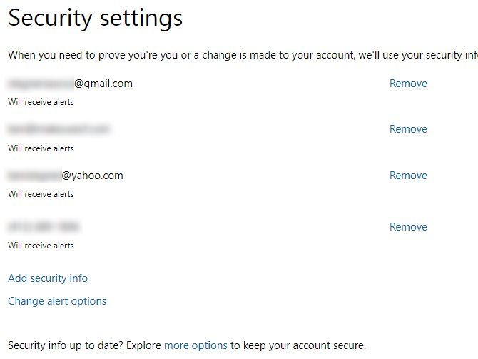 microsoft account security settings