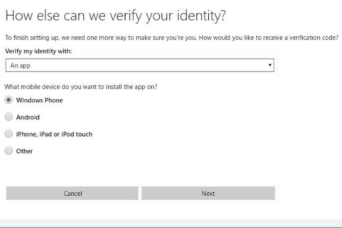 Enable Two-Factor Authentication - verify microsoft account