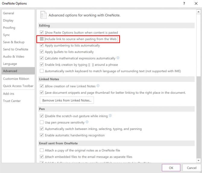 How to Disable OneNote From Pasting Source Links One Note Link Source e1515523720444
