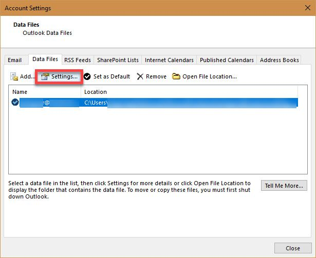 Password Protect Your PST File - microsoft account email